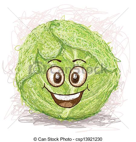 Cabbage clipart happy Happy  smiling green green