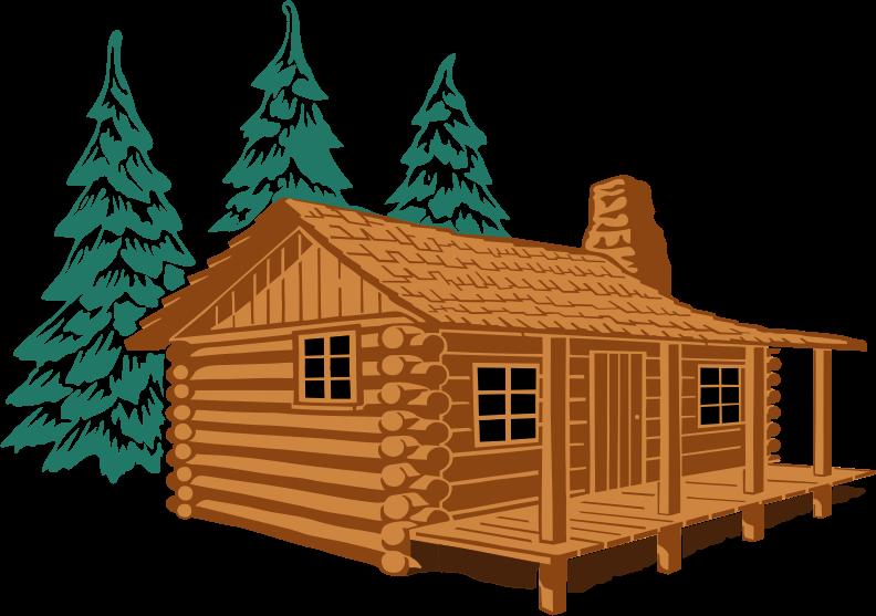 Winter clipart log cabin Panda Art Free Clipart Clipart