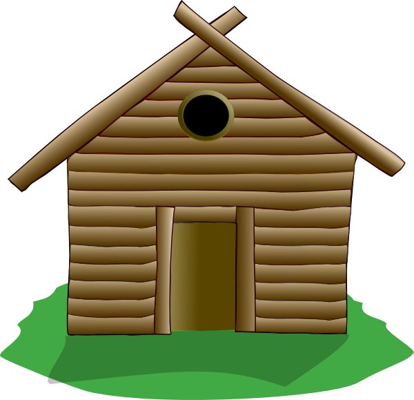 Hut clipart village school #11