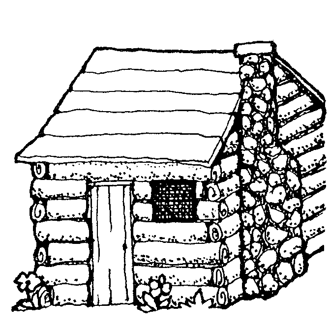 Hut clipart round Black Free cabin%20clipart%20black%20and%20white Clipart Panda