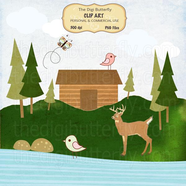 Cabin clipart lake cabin Cabin  Party Clipart