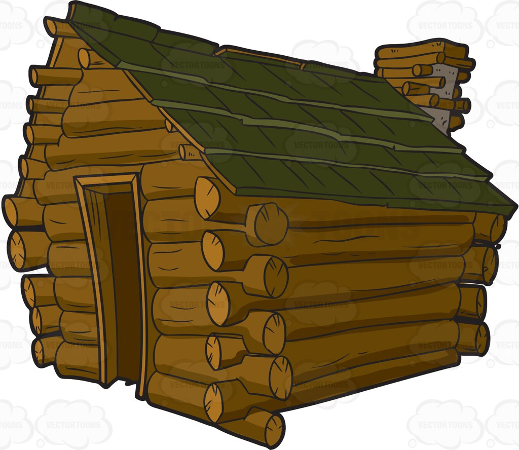 Winter clipart log cabin Cabin art Clipartix Art Log
