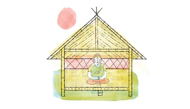 Cabin clipart spiritual retreat Nolan Buddhist Illustration Your Pelletier
