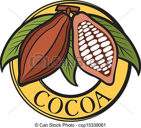 Beans clipart cocoa bean Label Vector Cacao beans badge