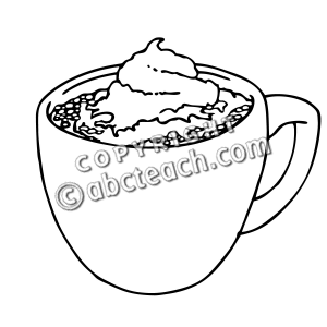 Hot Chocolate clipart black and white #12
