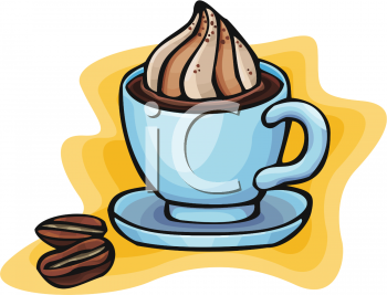 Hot Chocolate clipart blue #14