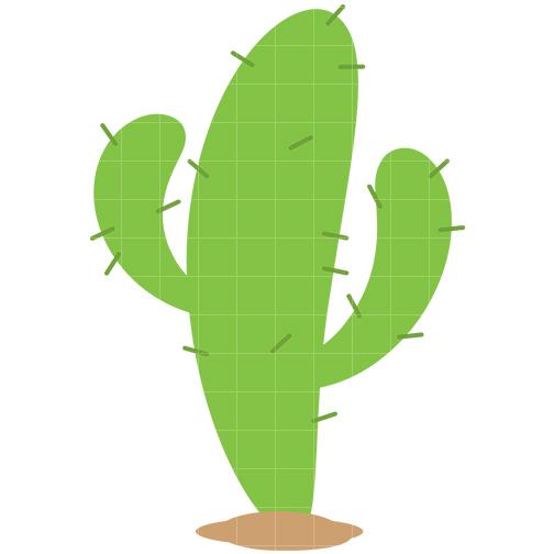 Simple clipart cactus #1