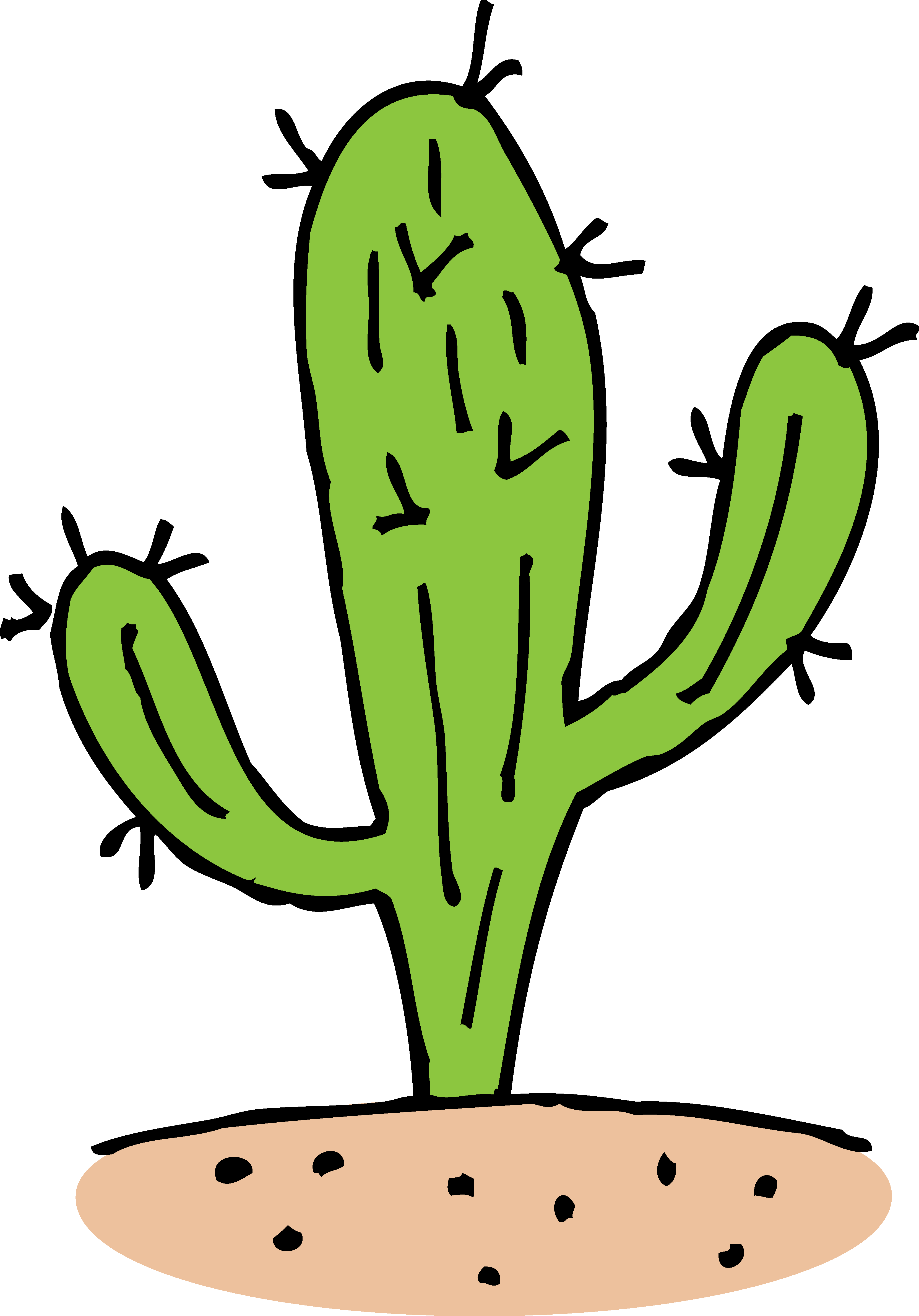 Simple clipart cactus #4