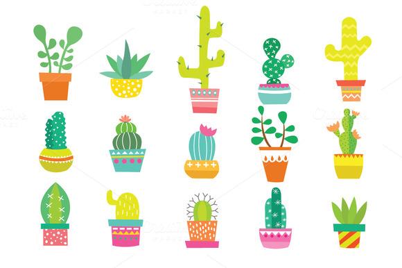 Background clipart cactus #15