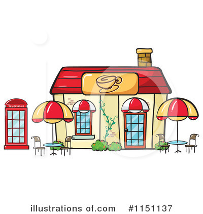 Restaurant clipart cafe building Royalty Graphics (RF) by RF