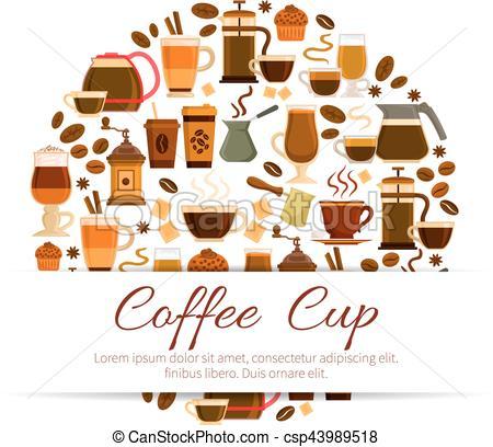 Cafeteria clipart espresso Latte of of Clip poster