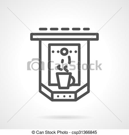 Cafeteria clipart espresso Style simple cup with line