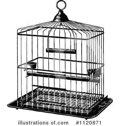 Cage clipart Clipart Illustration Prawny Vintage Bird