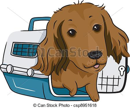Cage clipart dog cage Illustration Dog Haired Long in