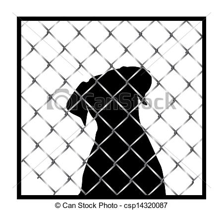 Cage clipart dog cage Behind Dog Cage royalty 137