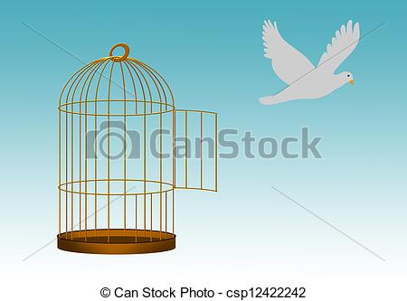 Cage clipart freedom bird Metaphor of freedom cage escape