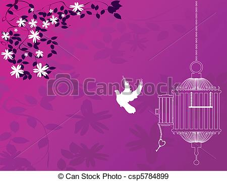Cage clipart freedom bird Away The csp5784899 to