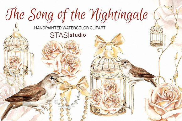 Cage clipart gold Nightingale Creative Clipart on ~