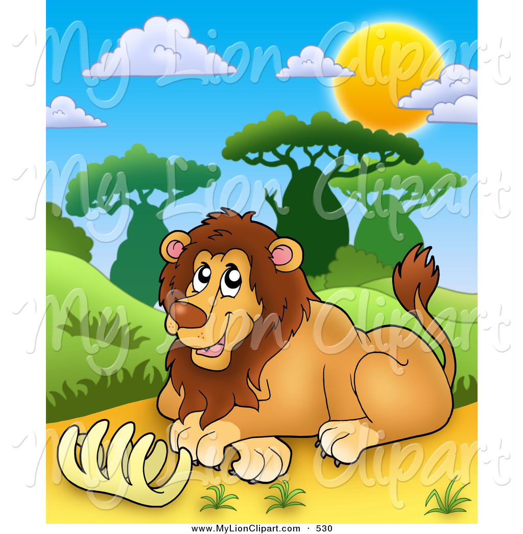 Cage clipart cute Free Lion a Royalty Brown