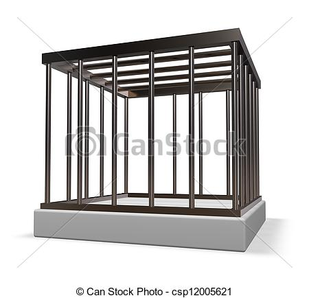 Cage clipart metal White Clip cage of illustration