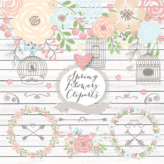 Cage clipart shabby chic Cage wedding chic shabby Rustic