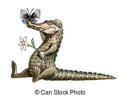 Caiman clipart Images 246 Hand Stock Caiman