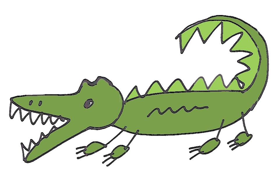Caiman clipart wild animal Free Art Alligator is C'