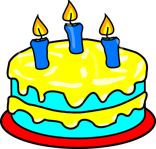 Candle clipart cake candle Kid birthday 3 cake clipart