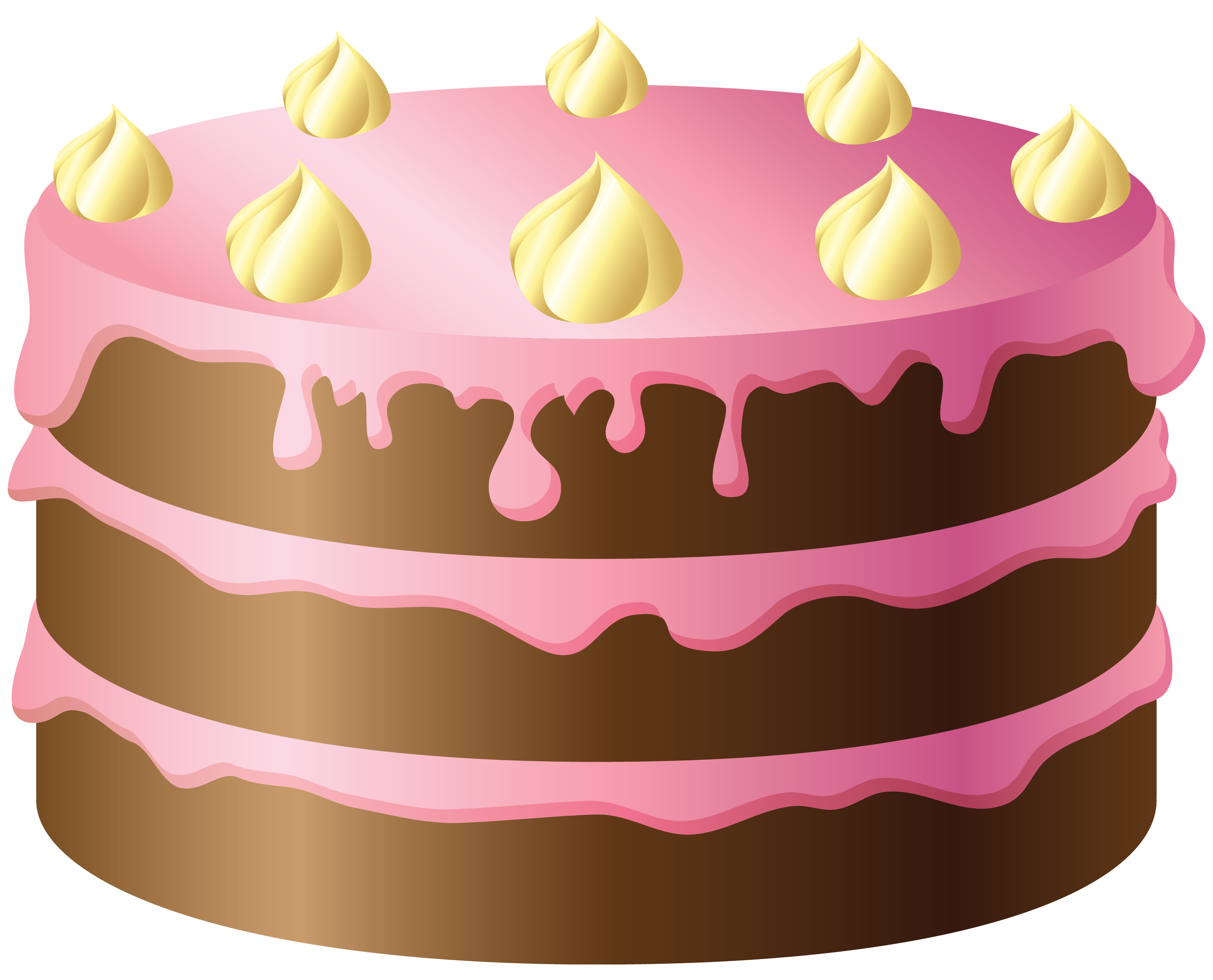 Cake clipart Birthday cakes clipartcow cake 4