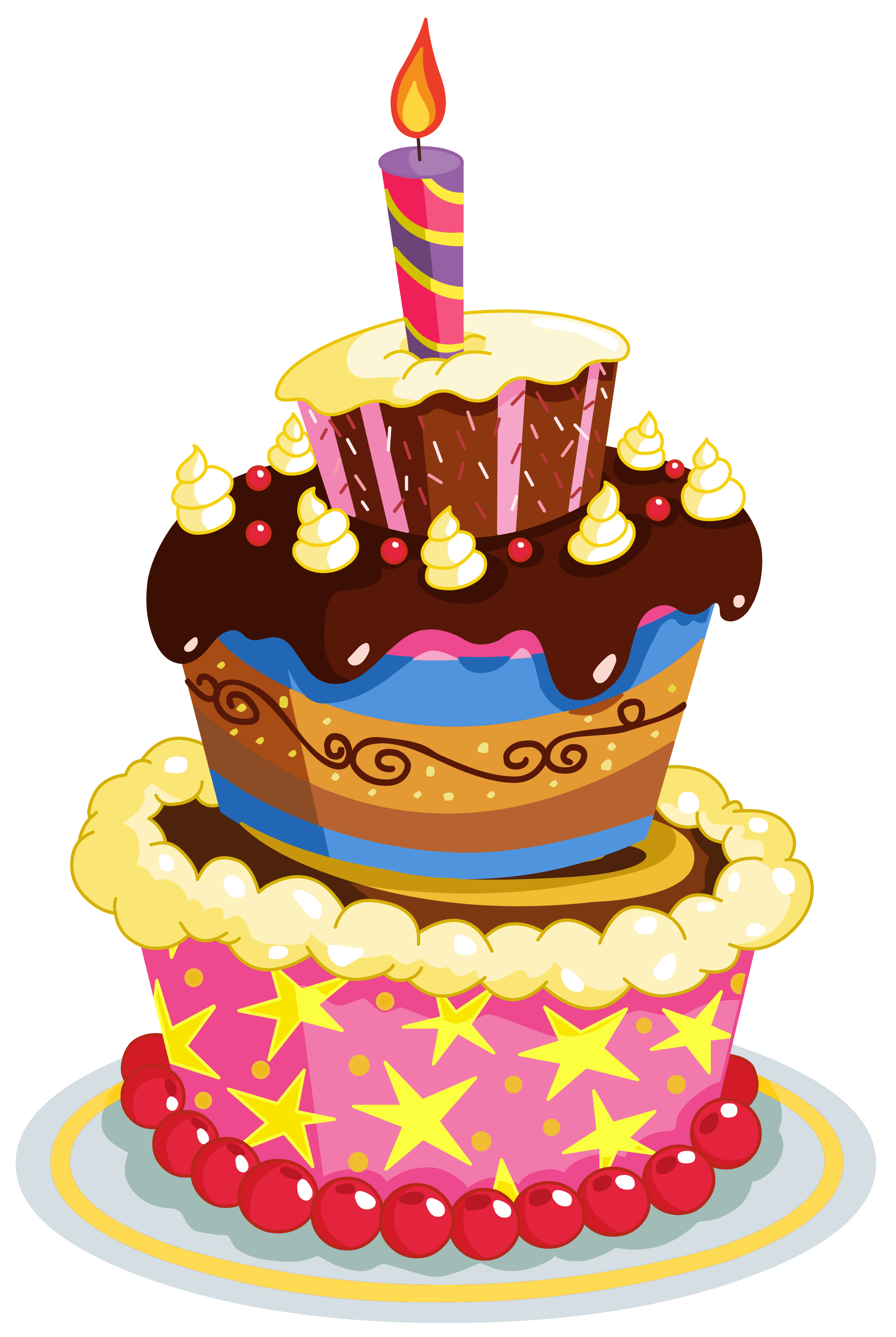 3D clipart birthday cake Clipart Cute Cake PNG Birthday