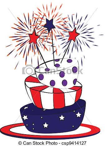 Birthday clipart 4th july July july july Illustration of