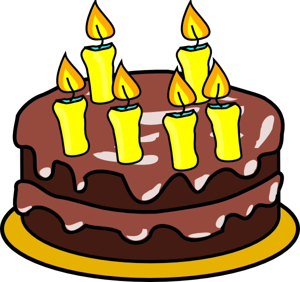 Candle clipart cake candle Six clipart Six Free clipart