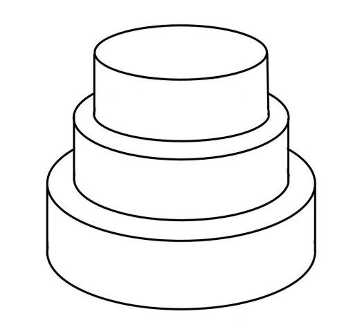 Drawn cake cherry Com decorating cakepins Templates Cake