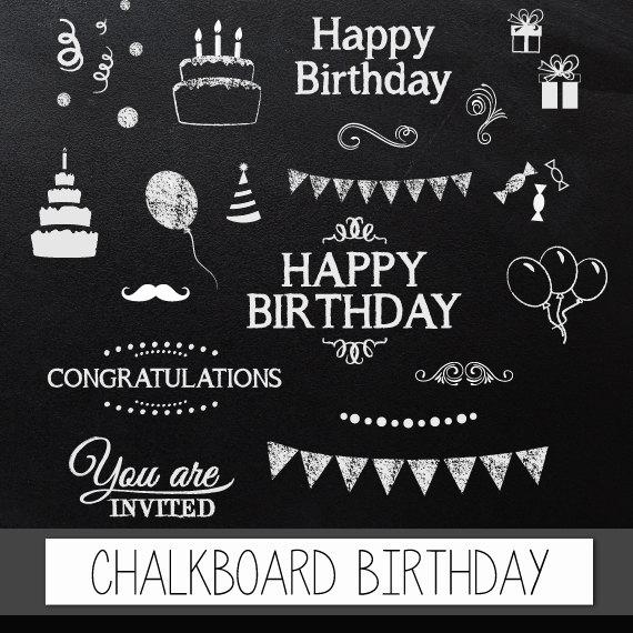 Balloon clipart chalkboard Clip clipart birthday chalkboard pack