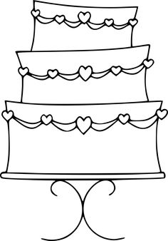 Cake clipart colouring page Printable of #18  page