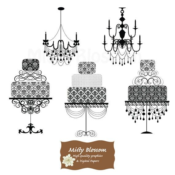 Damask clipart page Cake Damask  Clipart