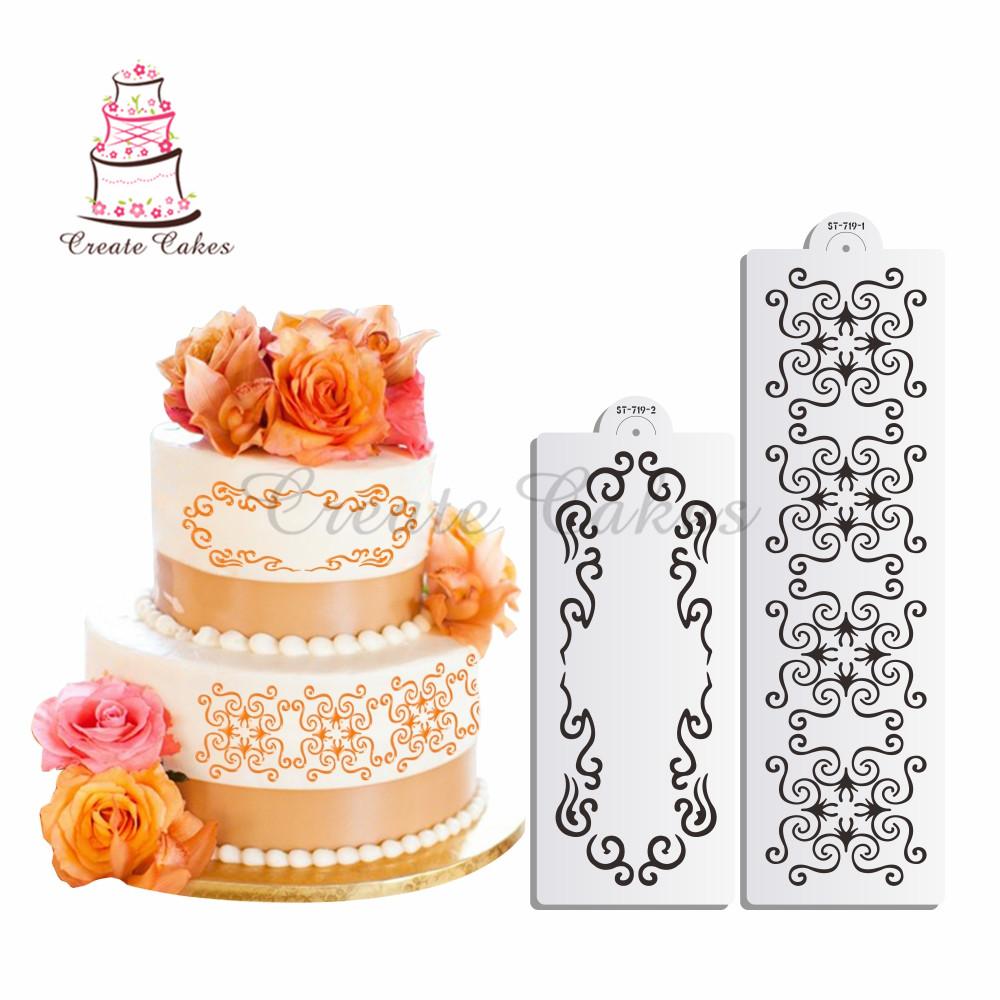 Cake clipart damask Damask Decorating Template Damask Alibaba