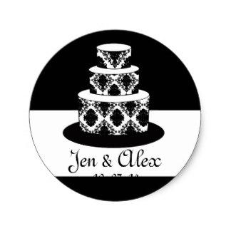 Cake clipart damask Wedding Label on Cake Damask