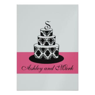Cake clipart damask Pink Invitation & Cake Cake