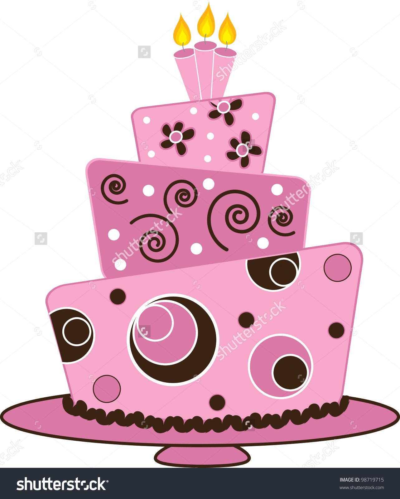Cake clipart fancy cake Stock Art Layered Illustration art