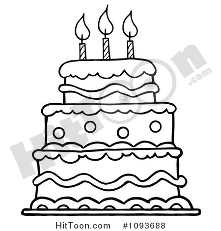 Cake clipart line art Clip collections Cake cake art