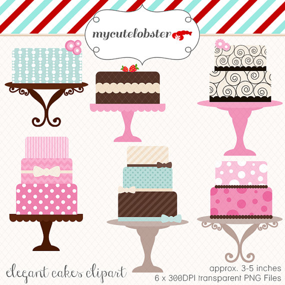 Wedding Cake clipart cute cake Set art elegant of clip
