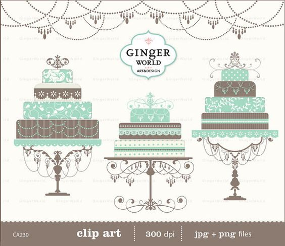 Cake clipart turquoise Luxury • Elegant ideas cake