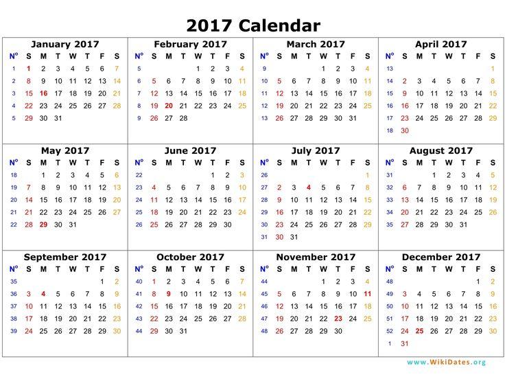 Calendar clipart 1 week 2017 2017 2017 calendar page