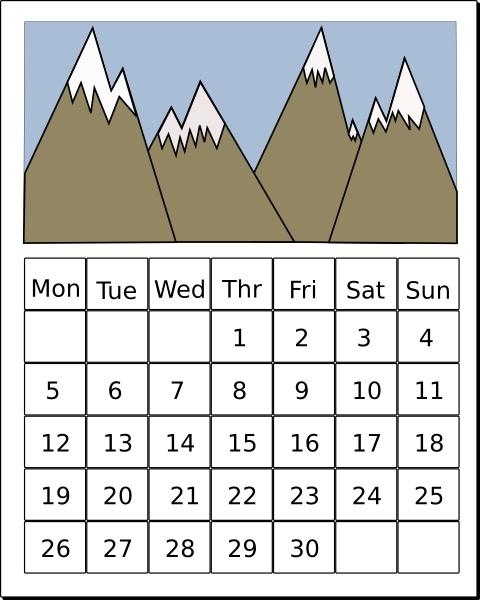 Calendar clipart Vector office clip ( svg