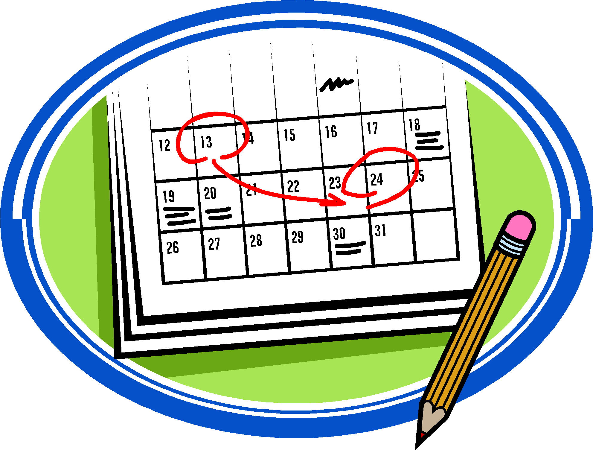 Meeting clipart calendar #6