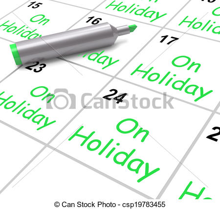 Calendar clipart annual leave Calendar Holiday On Off Holiday