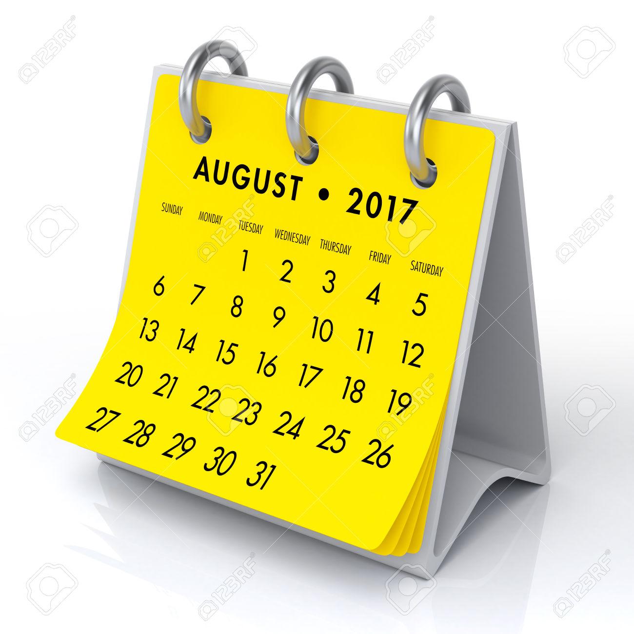 Calendar clipart aug Calendar August Template Calendar with