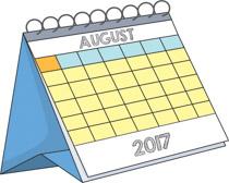 Calendar clipart aug Calendar Kb Search august Results