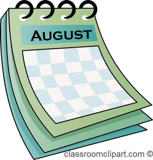 Calendar clipart aug Clipart calendar Cliparting clipart com